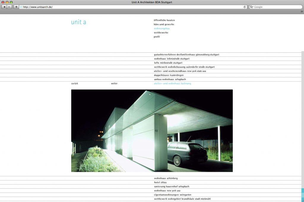 Homepage Unit A Stuttgart