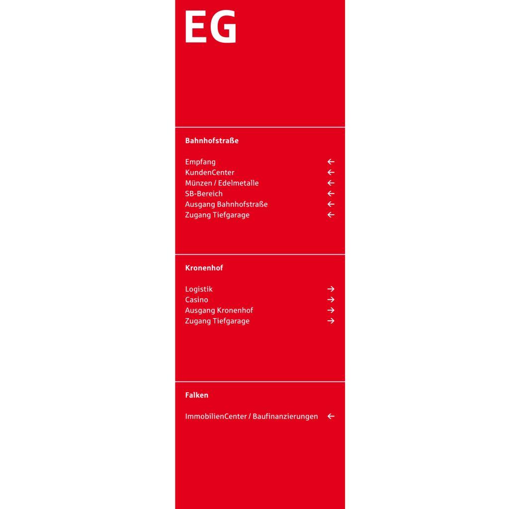 Leitsystem, Orientierungssystem, Kreissparkasse Esslingen