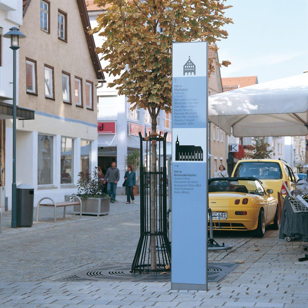 Leitsystem, Orientierungssystem, Stadt Metzingen