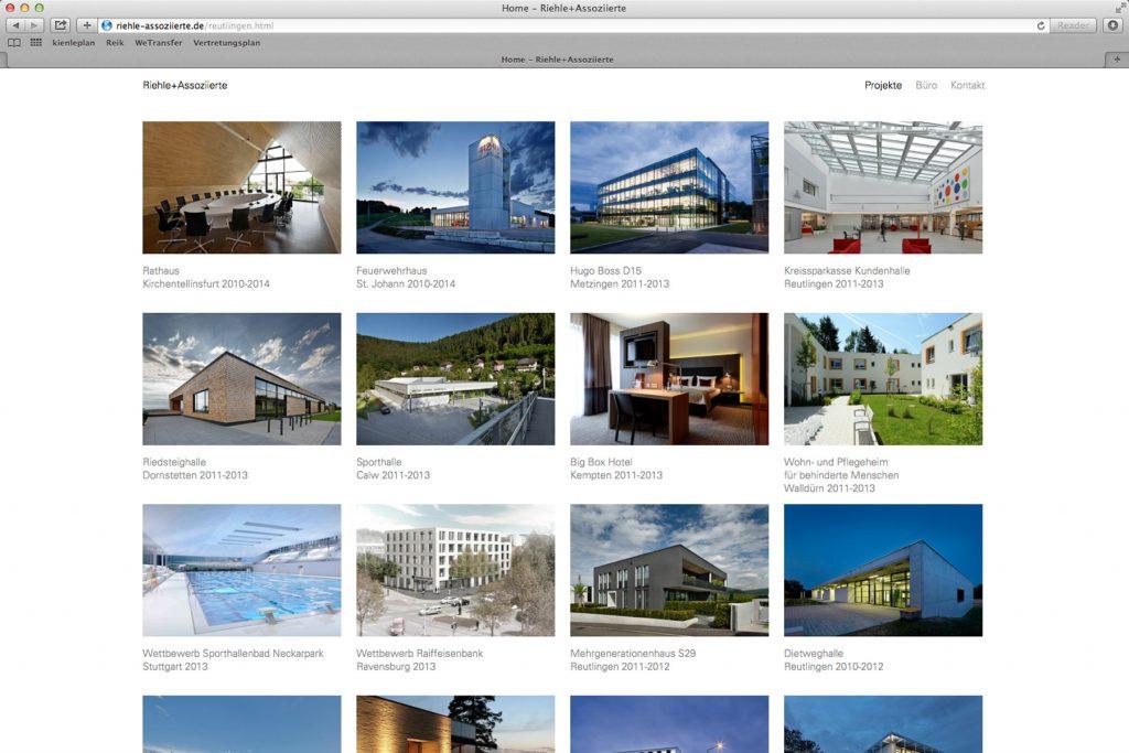 Homepage Riehle und Assoziierte