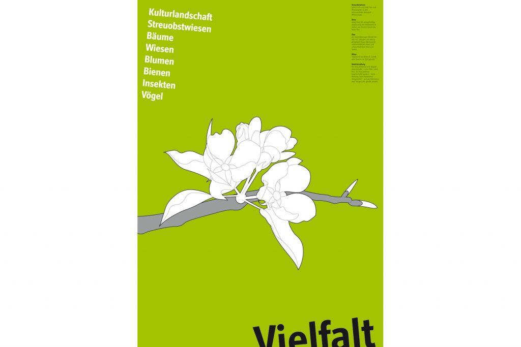 Plakat Streuobstzentrum Eduard Lucas, Pomologie Reutlingen