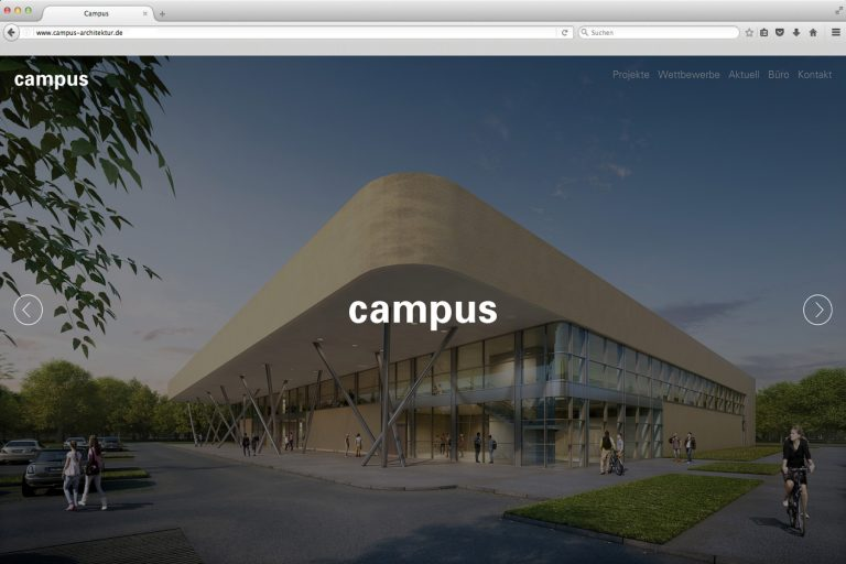 Homepage campus Architektur
