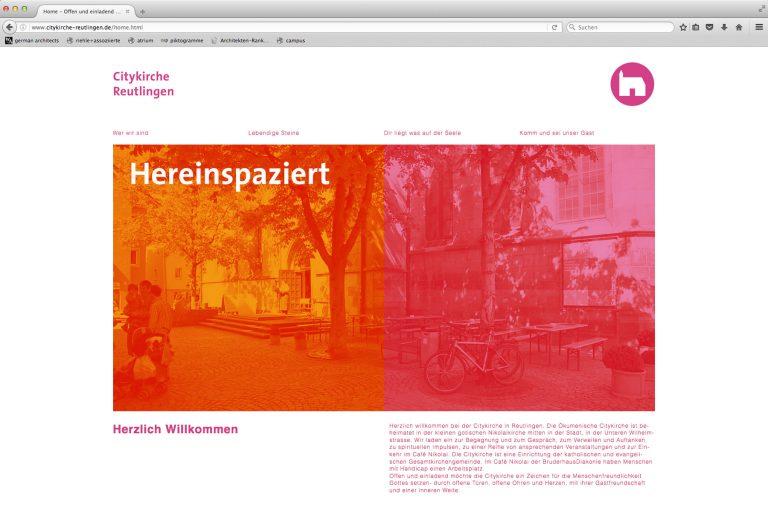 Homepage Citykirche Reutlingen