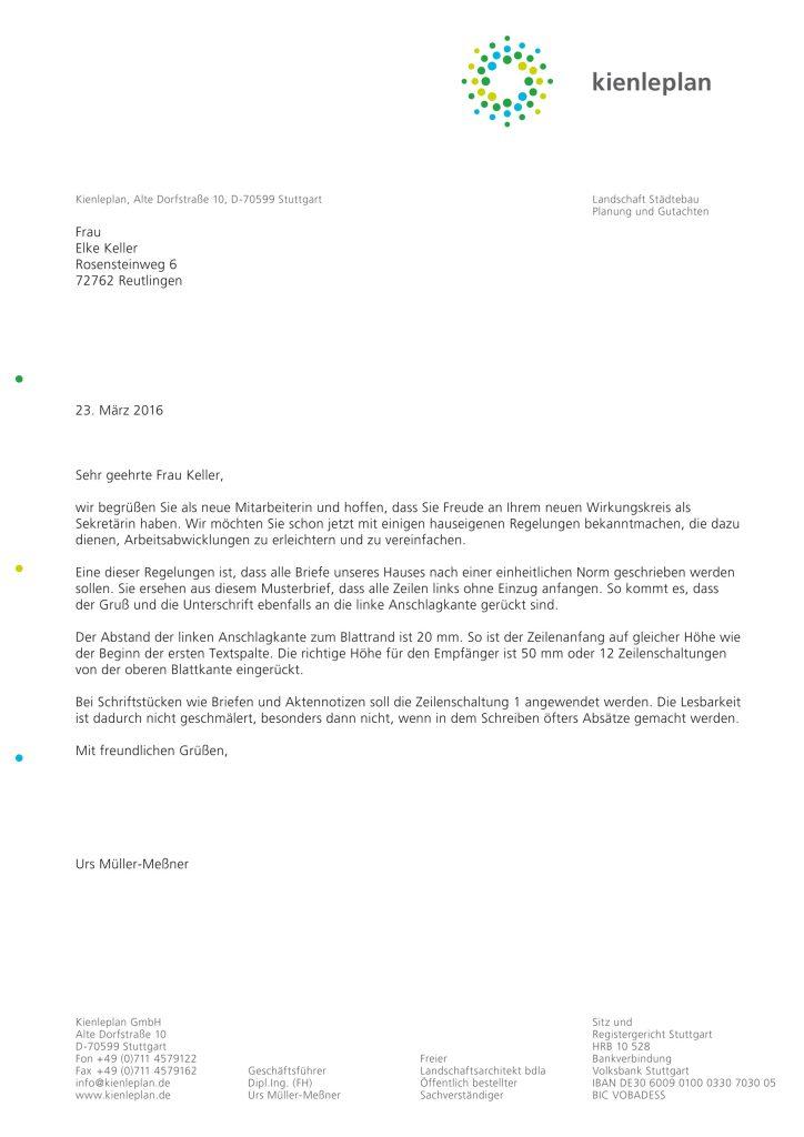 Briefbogen Kienleplan Leinfelden-Echterdingen