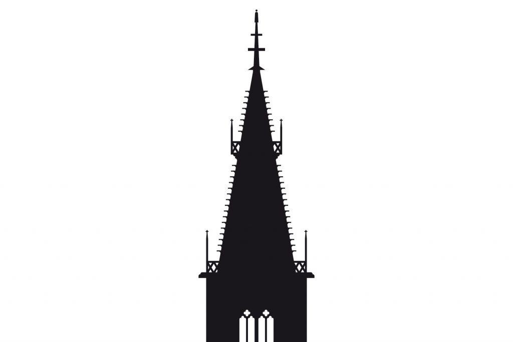 Piktogramm Marienkirche, Kulturleitsystem Stadt Reutlingen