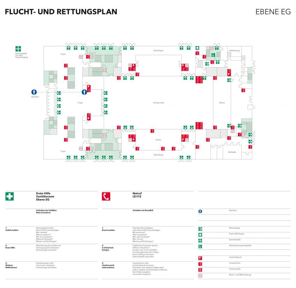 Flucht- und Rettungsplan Stadthalle Reutlingen