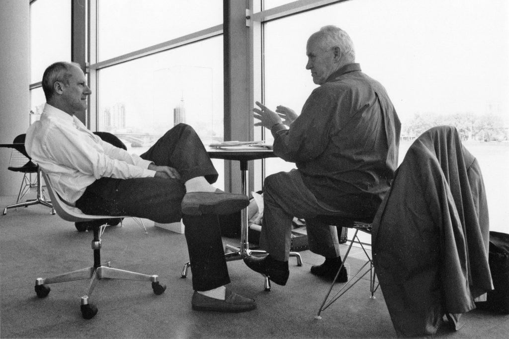 Norman Foster und Otl Aicher in London